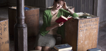 Picture of a woman reading a book
